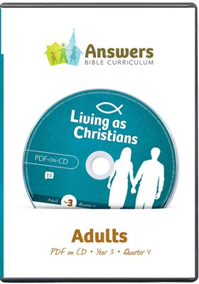 Answers Bible Curriculum Year 3 Quarter 4 Adult Teacher Kit on CD-ROM  -