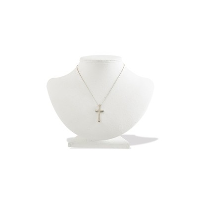 Silver Cross Necklace  -