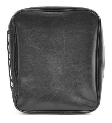 Leatherette Bible Cover, Black-XXL (DAKE size)  -
