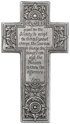 Serenity Prayer Wall Cross  -