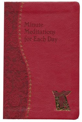 Minute Meditations for Each Day, Imitation Leather, Red  -     By: Bede Naegel