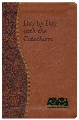 Day by Day with the Catechism. Tan Vinyl   -