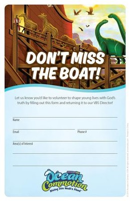 Ocean Commotion VBS Recruitment Fliers  -