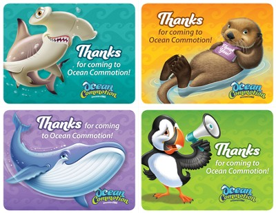 Ocean Commotion VBS Thanks for Coming Postcard (Pack of 40)  -