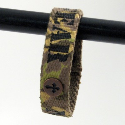 Fear Not Camo, Canvas Bracelet  -
