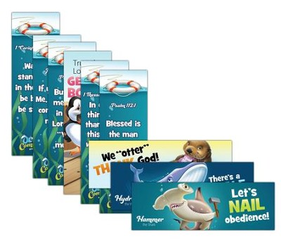 Ocean Commotion VBS Bookmark: Animal Pals NKJV (2 Sets of 5)  -