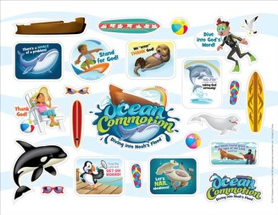 Ocean Commotion VBS Logo/Clip Art Stickers  -