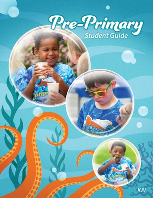 Ocean Commotion VBS Student Guides: Pre-Primary KJV (Pack of  10)  -
