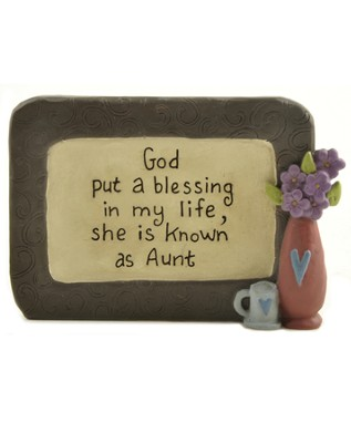Blessing in My Life Aunt Plaque  -     By: Suzy Skoglund