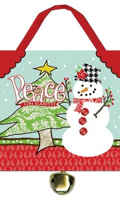 Peace on Earth Ornament with Bell  -
