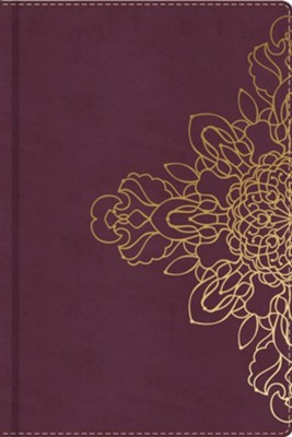 Burgundy Journal with Floral Motif  -