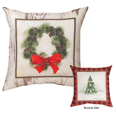 Christmas Cabin Patch Pillow  -     By: Sandy Clough