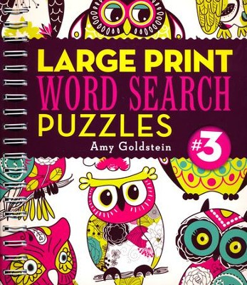 Large Print Word Search Puzzles 3  -     By: Amy Goldstein