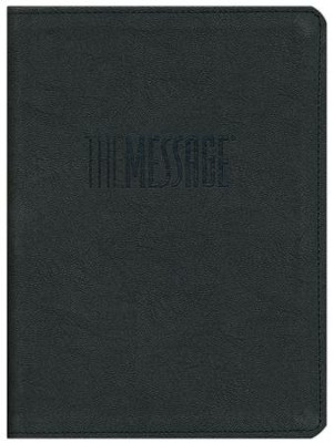 The Message // REMIX 2.0, Soft Imitation Leather, Storm Black  -     By: Eugene H. Peterson