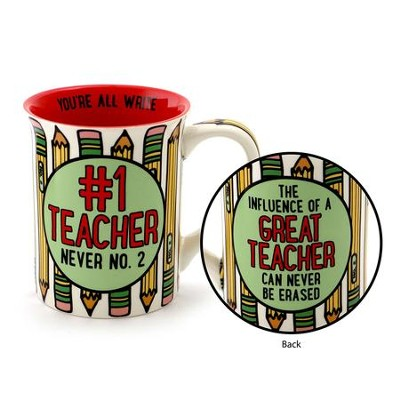 #1 Teacher Mug  -     By: Lorrie Veasey