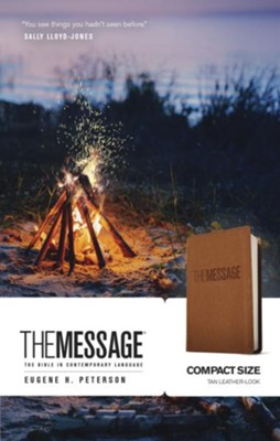 The Message Bible, Compact Soft leather-look, tan  -     By: Eugene H. Peterson