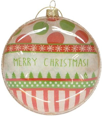 Merry Christmas, Glass Ornament  -