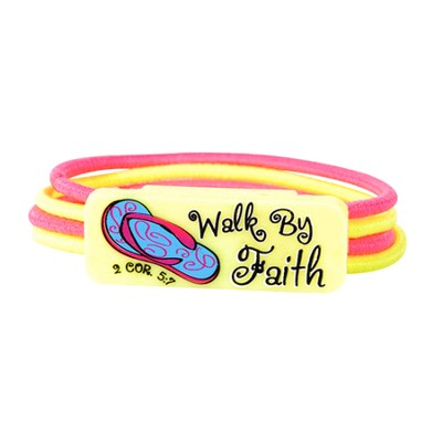 Walk By Faith Color Stretch Bracelet  -