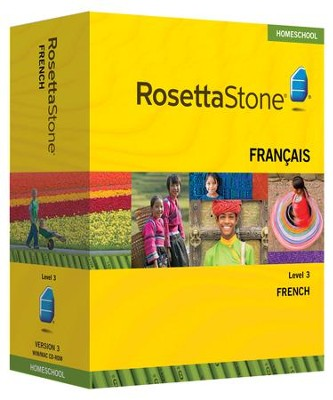 Rosetta Stone French Level 3 with Audio Companion Homeschool Edition, Version 3  -