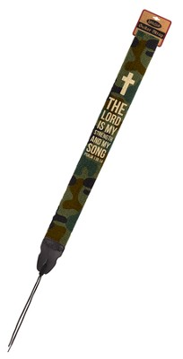 The Lord Is My Strength, Camo Guitar Strap  -