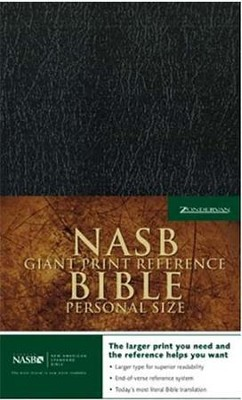 NAS Giant Print Reference Bible, Personal Size, Imitation leather, Black  -