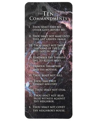 Ten Commandments Bookmark  -