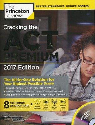 Cracking the acT Premium Edition with 8 Practice Tests and DVD, 2017  -