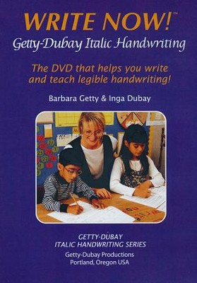 Write Now! Getty-Dubay Italic Handwriting DVD   -     By: Barbara Getty, Inga Dubay
