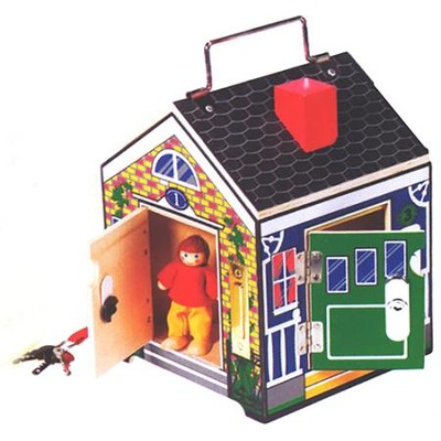 Wooden Doorbell House     -     By: Melissa & Doug