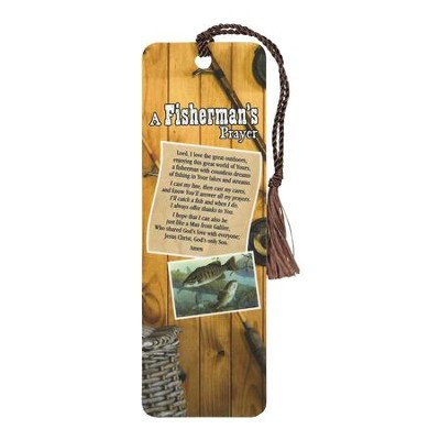 A Fisherman's Prayer Bookmark with Tassel  -