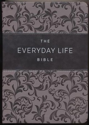 Everyday Life Bible: The Power Of God's Word For Everyday Living, Imitation Leather, pewter  -     By: Joyce Meyer
