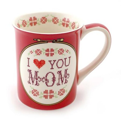 Mom I Love You, Family Forever & Always, Mug  -     By: Lorrie Veasey