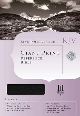 KJV Giant-Print Reference Bible, Imitation leather black,  Thumb-Indexed  -