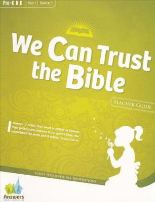Answers Bible Curriculum Year 1 Quarter 1 Preschool Teacher Guide with DVD-ROM  -