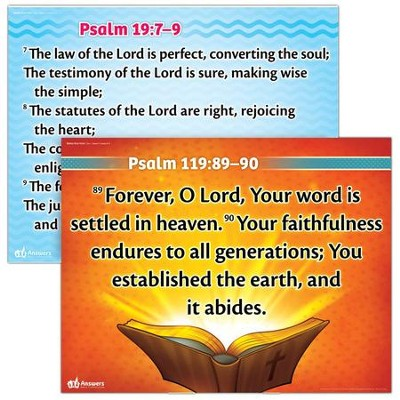 Answers Bible Curriculum Year 1 Quarter 1 Memory Verse Posters Set of 2, Grades 1-6  -