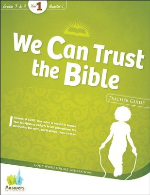 Answers Bible Curriculum Year 1 Quarter 1 Grades 3-4 Teacher Guide with DVD-ROM  -