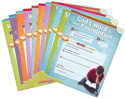 Answers Bible Curriculum Year 1 Quarter 1 Grades 3 & 4 Extra Take Home Sheets (1 Student)  -
