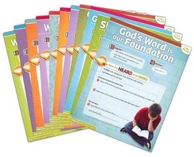 Answers Bible Curriculum Year 1 Quarter 1 Grades 5 & 6 Extra Take Home Sheets (1 Student)  -