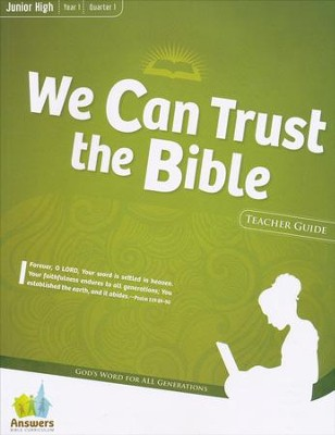 Answers Bible Curriculum Year 1 Quarter 1 Jr. High Teacher Guide with DVD-ROM  -