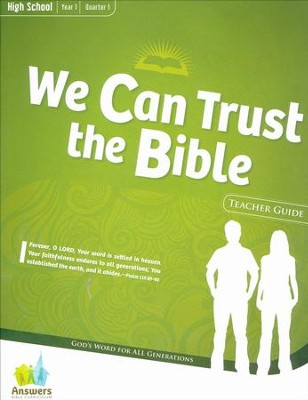 Answers Bible Curriculum Year 1 Quarter 1 High School Teacher Guide with DVD-ROM  -
