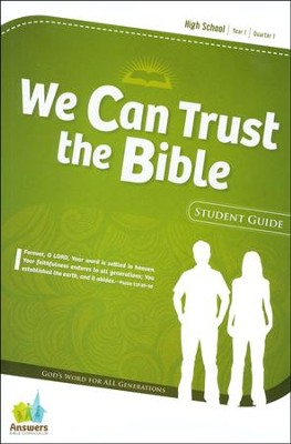 Answers Bible Curriculum Year 1 Quarter 1 High School Extra Student Guide                          -