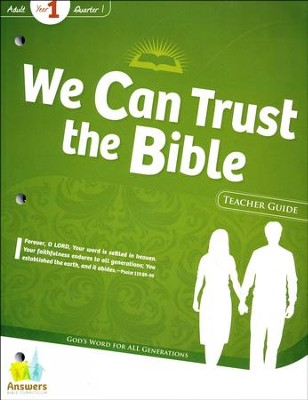 Answers Bible Curriculum Year 1 Quarter 1 Adult Teacher Guide with DVD-ROM  -