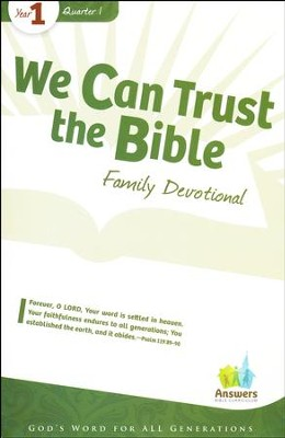 Answers Bible Curriculum Year 1 Quarter 1 Family  Devotional Book  -