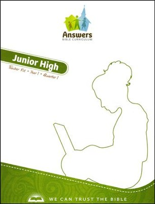 Answers Bible Curriculum Year 1 Quarter 1 Junior High Teacher Kit                        -