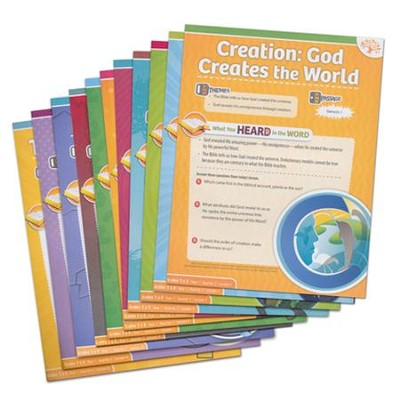 Answers Bible Curriculum Year 1 Quarter 2 Grades 5 & 6 Extra Take Home Sheets (1 Student)  -