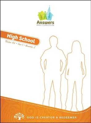 Answers Bible Curriculum Year 1 Quarter 2 High School Teacher Kit                         -