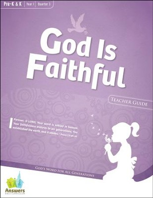 Answers Bible Curriculum: God Is Faithful Preschool Teacher Guide with DVD-ROM Year 1 Quarter 3  -