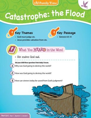 Answers Bible Curriculum Year 1 Quarter 3 Preschool Take-Home Sheets   -