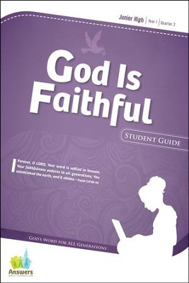 Answers Bible Curriculum Year 1 Quarter 3 Junior High Student Guide   -
