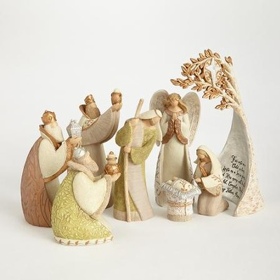 Legacy of Love, Nativity Set with Birch Tree, 8 pieces  -     By: Kim Lawrence